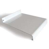 Venkovní parapet hliníkový tažený - bílý, tl. 1,5-2,8mm