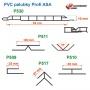 rozměry plastových palubek Profi ASA, P530