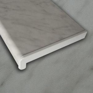 PVC parapet RS, Alfa folie - Šedý mramor A02