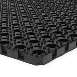 Gumová vstupní čistící rohož na hrubé nečistoty Honeycomb - 120 x 80 x 2,2 cm