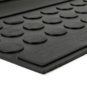 Gumová schodová rohož Coins - 75 x 25 x 0,5 cm
