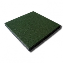 Pryžová dlažba MFL čtverec SBR, pro terasy, zelená