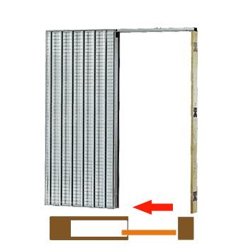 stavební pouzdro pro jednokřídlé dveře Klasik