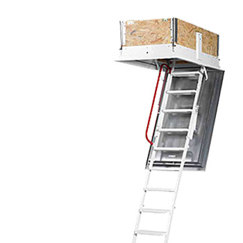Půdní schody pro pasivní domy Wippro Isotec Luxe 200