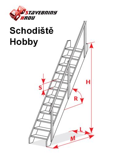 rozměry schodů Oman Hobby