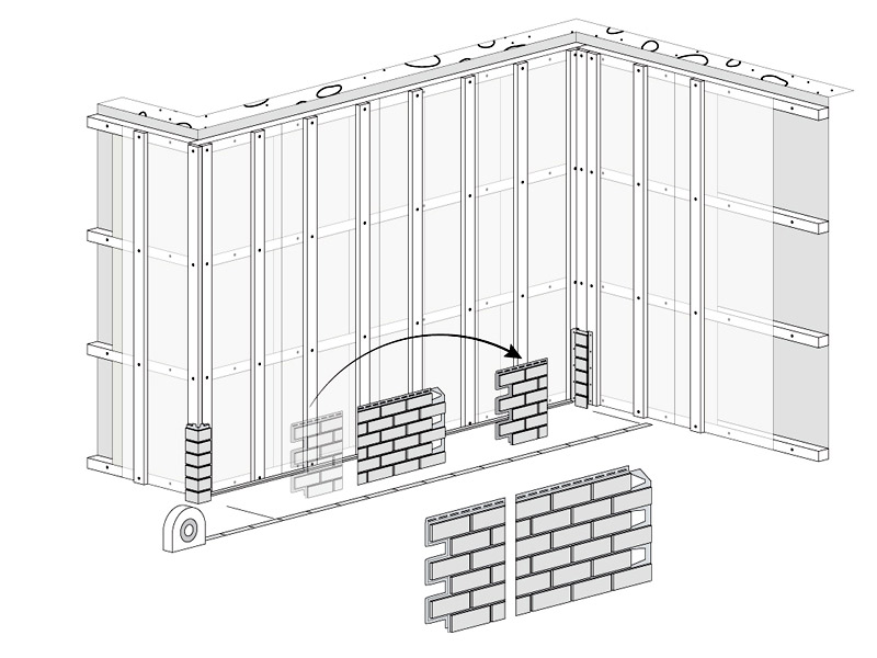 fasádní obklady Solid - založení plochy