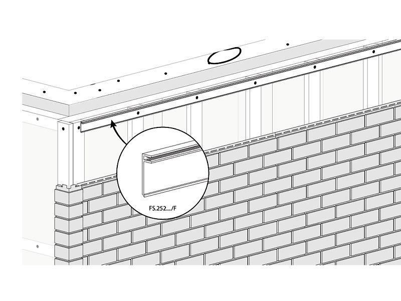fasádní obklady Solid - ukončení plochy