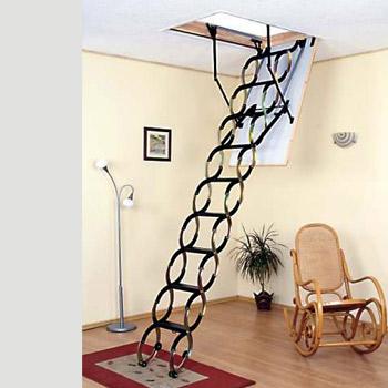 nůžkové schodiště