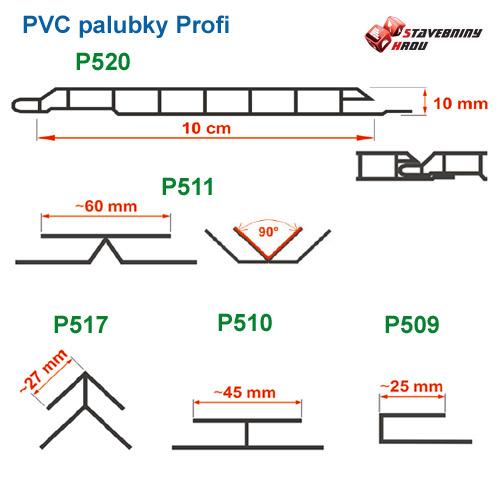 rozměry plastových palubek Profi