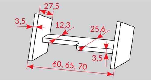 rozměry stupňů Oman Clever