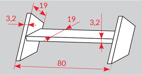 rozměry stupňů Oman Turn