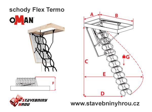 rozměry schodů Oman Flex Termo