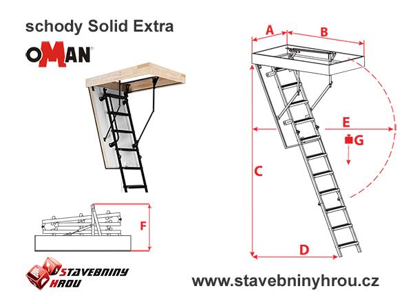 rozměry schodů Oman Solid Extra