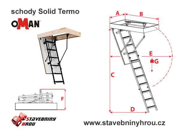 rozměry schodů Oman Solid Termo